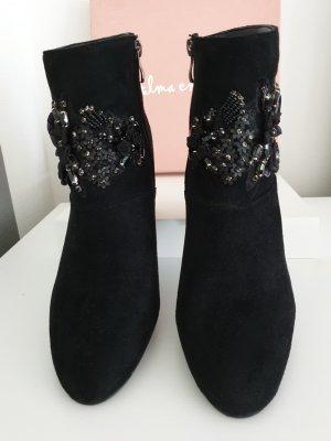 Alma en Pena Short Boots black leather