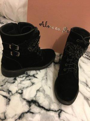 Almaen Pers Stiefel Kristall Boots Streetstylelook Samt