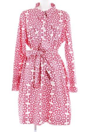 Almatrichi Blusenkleid wollweiß-magenta florales Muster Casual-Look