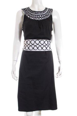 Almatrichi Kleid schwarz-weiß extravaganter Stil