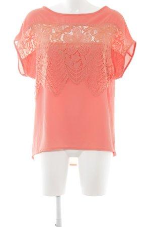 Almatrichi Kurzarm-Bluse lachs Street-Fashion-Look