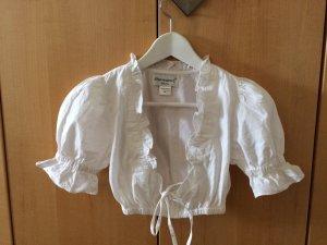 Almenrausch Blouse bavaroise blanc coton