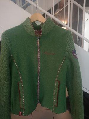 Almgwand Chaqueta de lana verde hierba