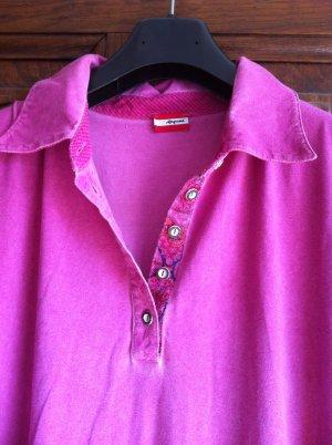 Folkloristische blouse magenta Viscose