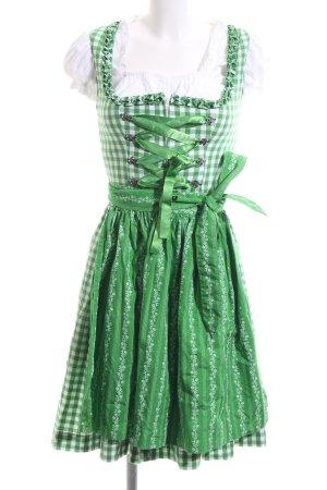 Almsach Dirndl green-white flower pattern classic style