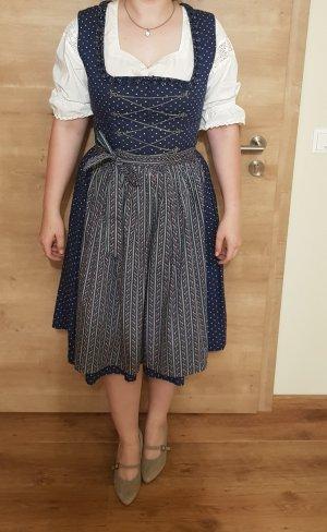 Almsach Vestido Dirndl rosa-azul oscuro