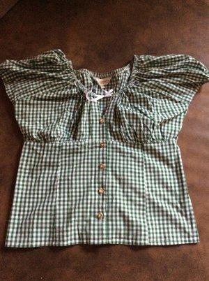 Almsach Folkloristische blouse bos Groen-wit