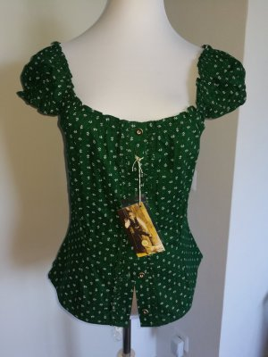 Almsach Short Sleeved Blouse forest green