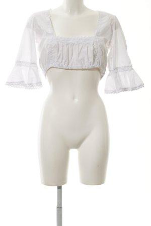 Almsach Folkloristische blouse wit klassieke stijl