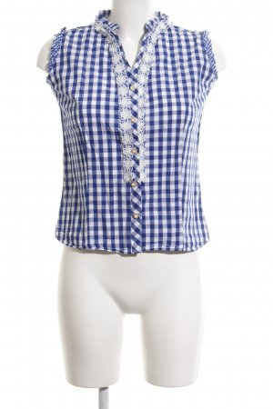 Almsach Traditional Blouse white-blue check pattern casual look