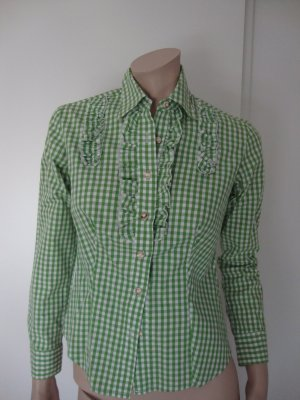 Almsach Traditional Blouse white-grass green