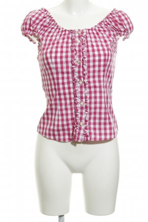 Almsach Traditional Blouse check pattern country style