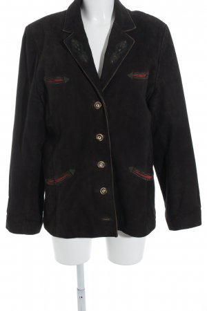 Almsach Traditional Jacket dark brown-green grey country style