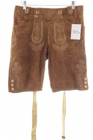 Almsach Traditional Leather Trousers light brown classic style