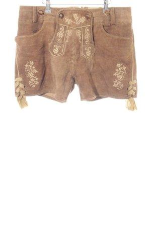 Almsach Pantalón de cuero tradicional multicolor estilo extravagante