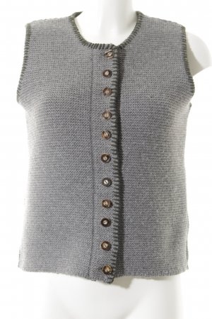 Almsach Traditional Vest grey-forest green weave pattern simple style