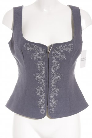Almsach Traditional Vest steel blue-white simple style