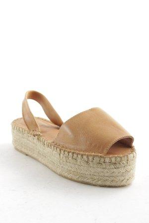 Alohas Espadrilles-Sandalen camel-hellbeige Boho-Look