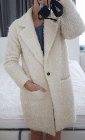 Alpaca Wollmantel creme weich warm kuschelig oversized Mango Suit S 36