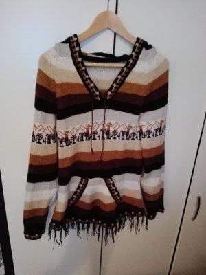 Alpaka Pullover aus Mexiko Christmas Sweater Pulli Kleid blau braun Lama
