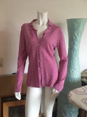 Smanicato lavorato a maglia rosa