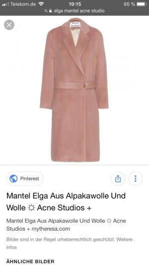 Acne Cappotto in lana color oro rosa-rosa antico
