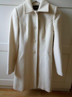 100% Fashion Manteau long beige clair laine alpaga