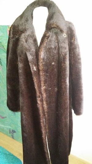 Peter Hahn Winter Coat dark brown alpaca wool