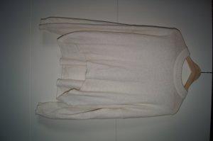 Alpakka-Pullover, Alpaccapulli, Mohairpullover, Oversized-Pullover, cremeweiß