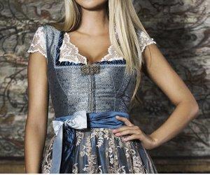Alpenherz Folkloristische blouse wolwit