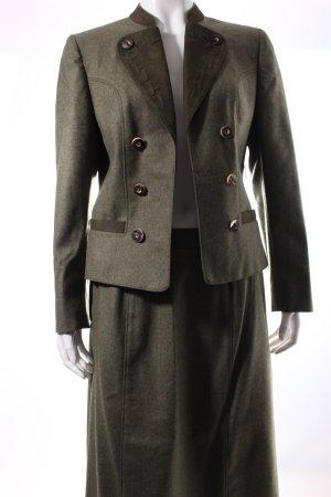 Alpentracht Kostüm khaki schlichter Stil