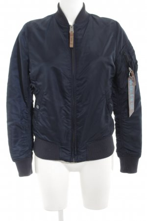 Alpha Industries Bomber Jacket blue casual look