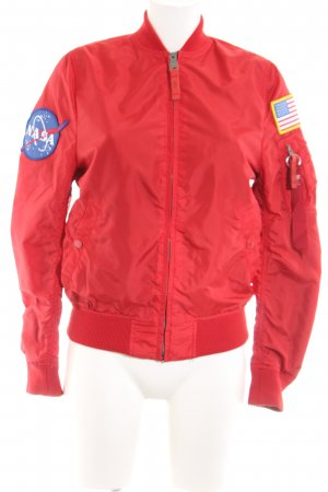 Alpha Industries Bomber Jacket red casual look