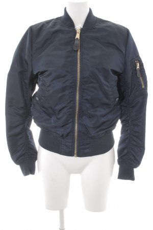 Alpha Industries Bomber Jacket dark blue casual look