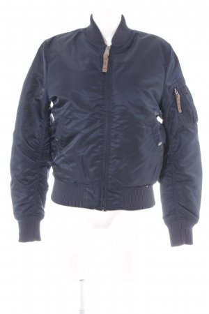 Alpha Industries Bomberjacke dunkelblau College-Look