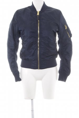 Alpha Industries Bomber Jacket gold-colored-dark blue boyfriend style