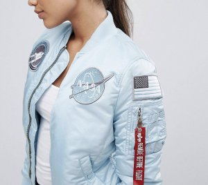 Alpha Industries Blouson aviateur bleu clair-bleu azur