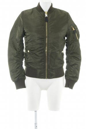 Alpha Industries Bomber Jacket khaki wet-look
