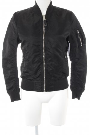 Alpha Industries Bomberjacke schwarz College-Look