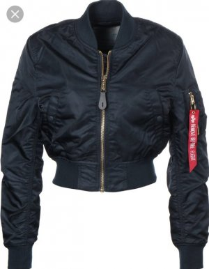 Alpha Industries Cropped Bomberjacke blue L