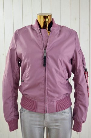 Alpha Industries Bomber Jacket mauve-grey lilac nylon