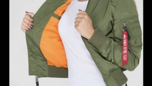 Alpha Industries Blouson aviateur kaki-orange