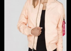 Alpha Industries Blouson aviateur abricot