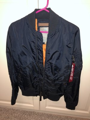 Alpha Industries Jacke Bomber unisex S blau remove before flight