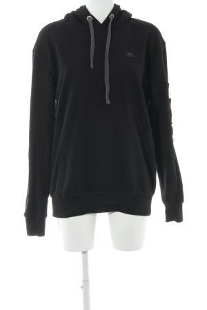 Alpha Industries Sweatshirt met capuchon zwart-karmijn casual uitstraling