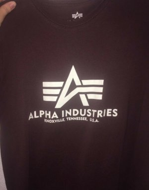 Alpha Industries T-Shirt bordeaux