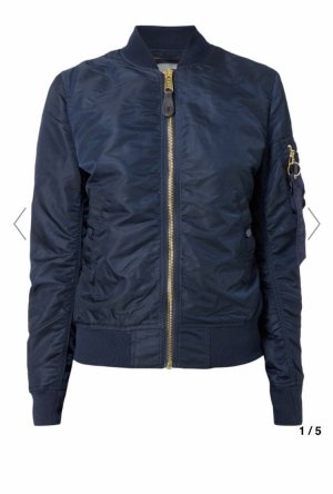 Alpha Industries Between-Seasons Jacket dark blue-gold-colored polyamide