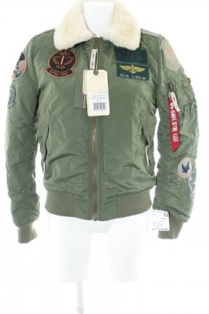 Alpha Industries Winterjack khaki-room straat-mode uitstraling