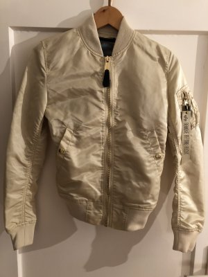 Alpha Industries Bomber Jacket cream nylon