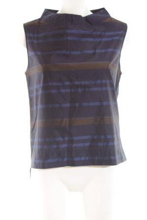 Alpha Débardeur à bretelles bleu-bronze motif rayé style décontracté